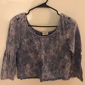 Tie Dyed Cropped 3/4 Length Top